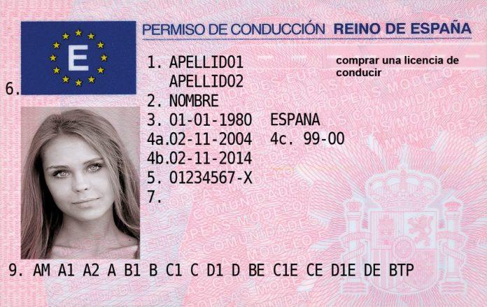 Spain driving license exchange