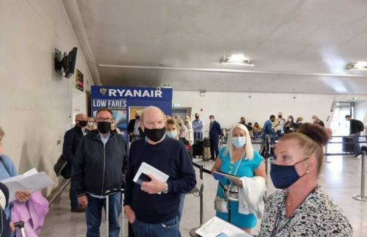 31 passengers turned away from boarding flight to Spain. Photo: Derby live