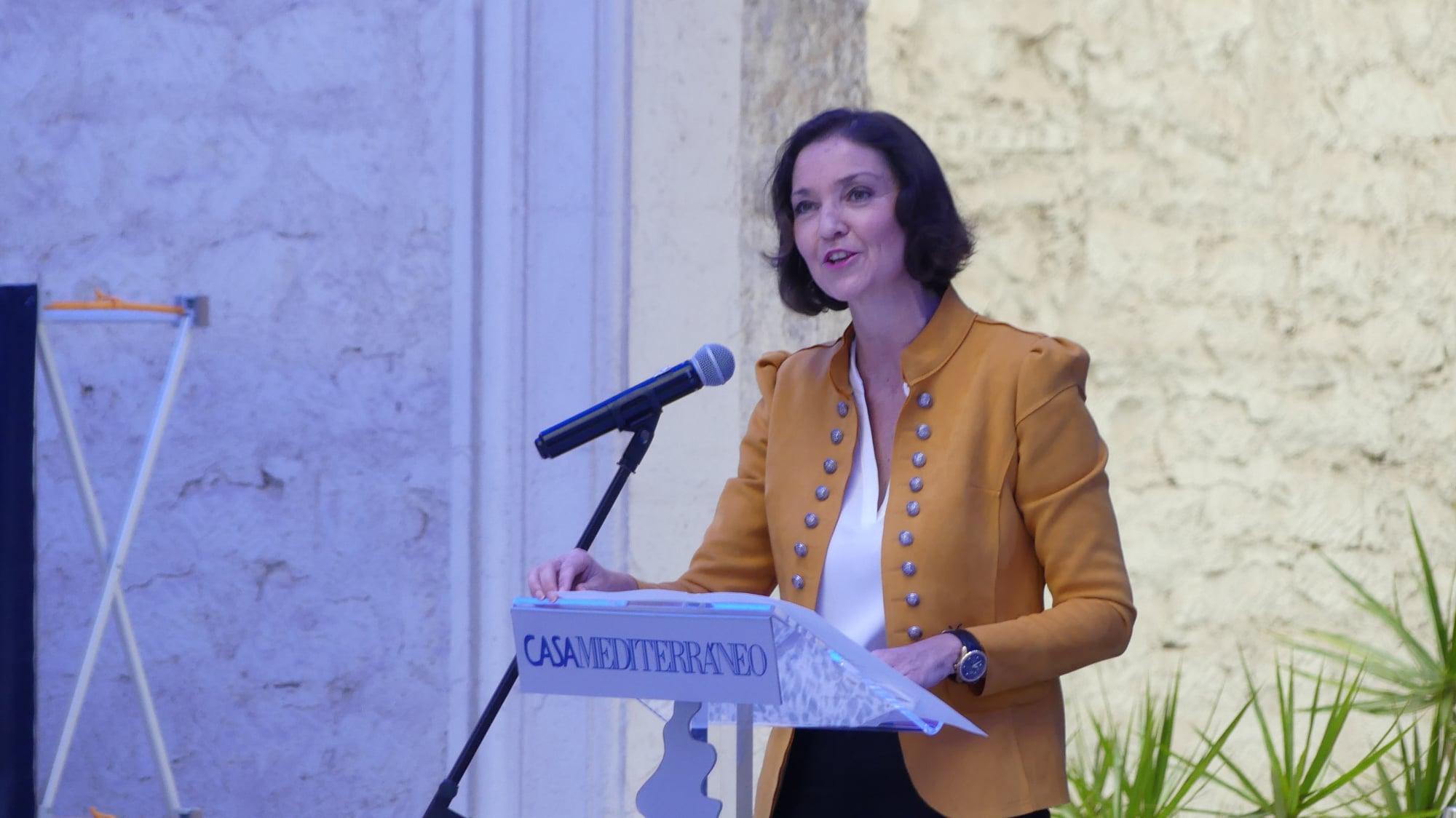 Reyes Maroto speaking in Alicante