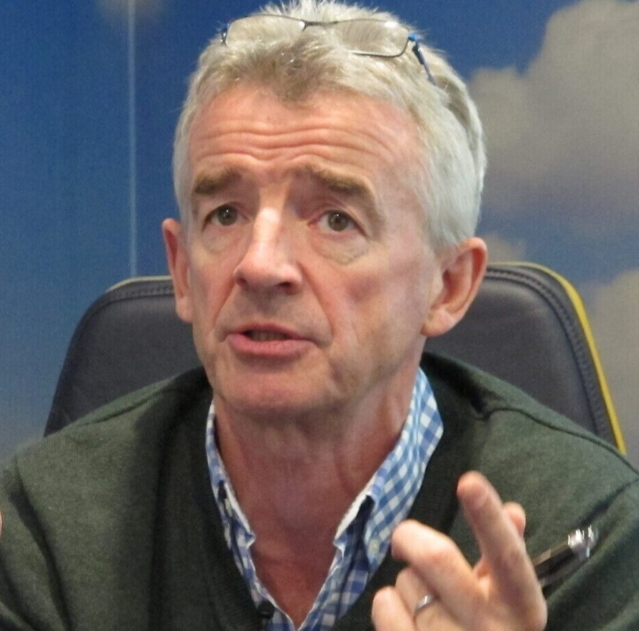 Michael O'Leary: British travelling to Spain in October - and particularly at Christmas.